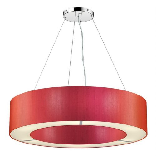 Polo 85CM 6 Light Pendant complete with Silk Shade (Choose colours) POL06 (Hand made, 10-14 day Del)